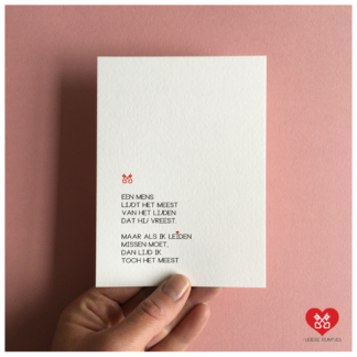 33. Leidse Rijmpjes Postkaart 'Lijden'