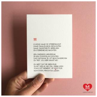 32. Leidse Rijmpjes Postkaart 'Sterrewacht'