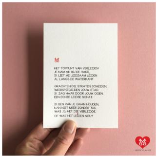 35. Leidse Rijmpjes Postkaart 'Verleiden'