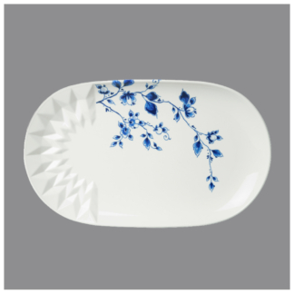 13. Oval serving plate 'Blauw Vouw'