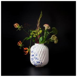 18. Vase XL 'Blauw Vouw'