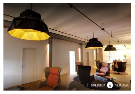 Apollo Lampshades at Goldbek Medical Hamburg