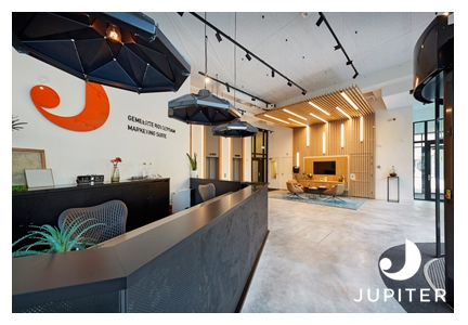 Lighting Reception Desk Jupiter Offices Rotterdam