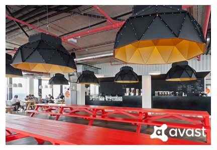 Apollo Lampshades at Avast Software Offices