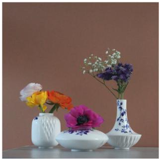 19. Set of 3 small vases 'Blauw Vouw'